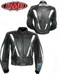 DMD Black & Silver Alpha Ladies Sports Leather Jacket