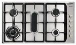 DeLonghi 90cm 5 Burner Gas Hob with Fish Burner & Wok Stand