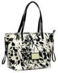Polo Synthetic Handbags Floral Print Shopper - Black Rose Red