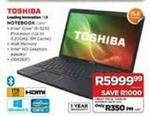 Toshiba Notebook-15.6 C850