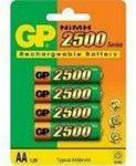 Gp Size AA - Rechargeable 2500mAh NiMH Battery - 4 per pack