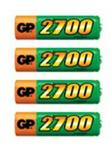 Gp Size AA - AAA - Rechargeable 2700mAh NiMH Battery - 4 per pack