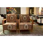 Jo Carlin Furniture Lautrec Armchair In Fabric Multicolor