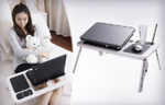 Foldable Laptop Table With A Cooling System
