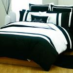 Linen House Hampshire Black Duvet Set