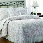 House Brands Neutrals French Bouquet Pebble Duvet Set With 2 Standard Pillow Cases