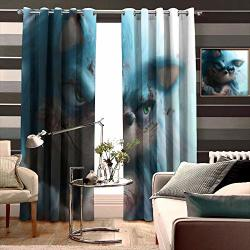 Decor Curtains By Long Sonic The Hedgehog Background Wide Blackout Curtains Keep Warm Draperies Set Of 2 W72 X L107