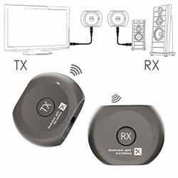 Avantree Aptx Low Latency Wireless Transmitter And Receiver Set Bluetooth Audio Adapter For Tv Headphones Speakers Camera Etc Pl