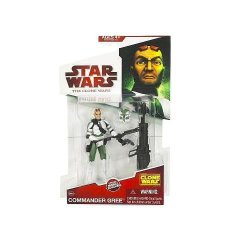 Hasbro Star Wars 2009 Clone Wars Animated Action Figure Commander Gree