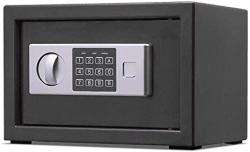 USA Wecnday-home Cabinet Safes Electronic Digital Safe Steel Strongbox With Keypad Manual Override Key Entry Protect Money Money Box Color : Black Size
