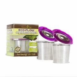 Perfect Pod Eco-flow Stainless Steel Reusable K-cup Coffee Pod Metal Filter 2-PACK