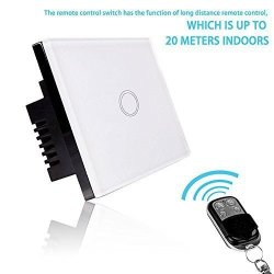 Smart Light Switch - Rf Touch Remote Control - 1 Gang No Neutral Required