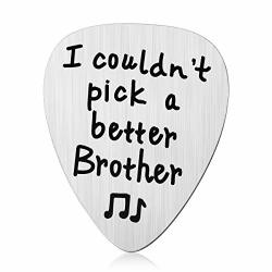 Jzsta Brother Gifts From Sister Brother Guitar Pick For Older Brother Big Brother Siblings Valentine's Day Birthday