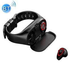 M1 0.96 Inch Tft Color Screen IP67 Waterproof Smart Bluetooth Earphone Bracelet Support Call Reminder Heart Rate Monitoring Blood Pressure Monitoring Sleep Monitoring Black