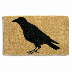 Tag - Black Crow Coir Mat Decorative All-season Mat For The Front Porch Patio Or Entryway Natural