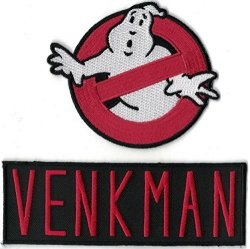 Titan One Ghostbusters Logo & Venkman Name Set Of 2 Embroidered Patches