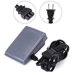 Walfront Foot Controller And Power Cord Sewing Machine Replacement Parts Pedal For Brother Us Plug 110V Black