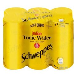 Schweppes Tonic Water Can 200ML X 6
