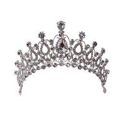Crown Tiare Headband Enice Prom Queen Crown Princess Crown Rhinestone Crystal Wedding Bridal Headdress For Women