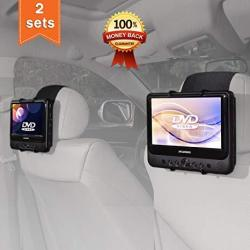 Car Headrest Mount Holder For Sylvania SDVD9805 Portable DVD Player Also Fit All 7 Inch - 10 Inch Swivel Screen Portable DVD Pla