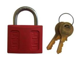 Union Modlok Nylon Padlock 45MM Kd Red