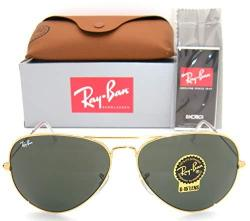 Ray Ban Aviator RB3026 Sunglasses - Gold L2846 Large 62MM