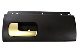 Pt Auto Warehouse FO-2385MA-RL - Inside Interior Inner Door Handle Black Housing With Chrome Lever Golden Brush - Driver Side Rear