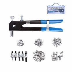 Toprema 126PCS Rivet Nut Tool Kit Set Blind Rivet Nut Hand Riveter Gun  Wrench Threaded Insert Rivnut Nutsert M3 M4 M5 M6 M8 | R1428 00 | Nails |