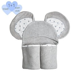 Alex And Vic Baby Hooded Towel Heavenly Soft With Luxurious Bamboo Keeps Baby Or Toddler Warm And Dry After Bath For New Moms And