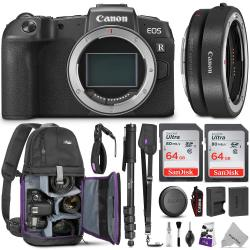 Canon Eos Rp Mirrorless Digital Camera Body W Mount Adapter & Advanced Photo And Travel Bundle Body + Ef Adapter