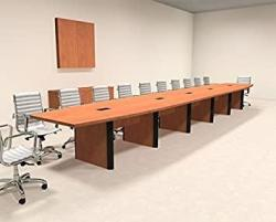 Modern Boat Shaped 24' Feet Conference Table OF-CON-CP36