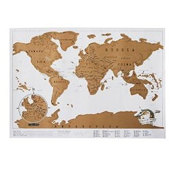 Wingbind Scratch World Map Scratch Off Places You Travel Gold Foil