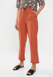 Missguided Co Ord Linen Cigarette Trousers - Orange