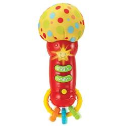 Kids Microphone Toy. My First Play Microphone With Sounds And Teethers Rattle. Battery Operated Microphone For Babies And Toddlers 3 Month Up. New 2