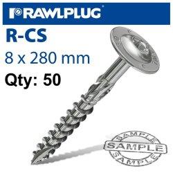 RawlPlug Torx T40 Timber Construction Screw 8.0X280MM X50-BOX