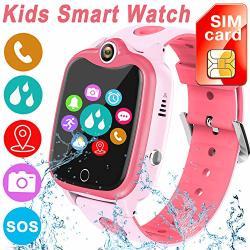 Sim Card Included Kids Smartwatch With Gps Tracker Waterproof Smart Watch For Kids Boys Girls Age 3-12 Year Old Sos Alarm Clock Digital Wrist