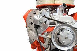 ICT Billet Sbc Billet Alternator Bracket Adjustable Lwp Small Block Chevy Kit 305 327 350 383 5.0L 5.7L V8 Eight Cylinder Long Water Pump