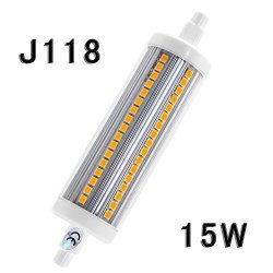 Rowrun R7S LED 118MM 15W J Type Bulb Soft White 3000K 102PCS 2835SMD 1600-1800LM 110V Non Dimmable Equivalent 150W J118 Halogen Floodlight Replacement