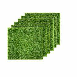 Obtanim Artificial Grass 6 Pcs Artificial Garden Grass 6X 6 Inch Life-like Fairy Artificial Grass Lawn Miniature Ornament Garden
