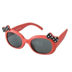 Time Concept Babies Fashion Sunglasses - Ribbon Dot - Uv-protected Summer Eyewear Infants 0-3 Years