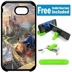 Limited Editions For Samsung Galaxy J7 Prime J7 2017 J7 Sky Pro J7 Perx J7 V Defender Rugged Hard Cover Case - Beauty And The Beast Castle Rainbow