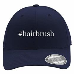 Hairbrush - Men's Hashtag Flexfit Baseball Cap Hat Dark Navy Large x-large