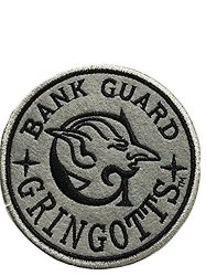 """Point Central Collectibles Harry Potter Gringotts Bank Guard 3 3 4"""" Tall Embroidered Costume Patch"""