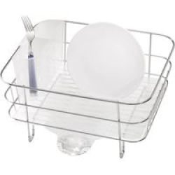 Stingray Simple Human Compact Wireframe Dishrack With Removable Spout Stainless Steel