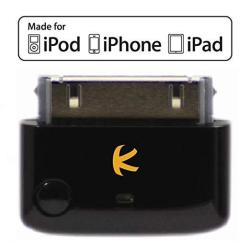 KOKKIA I10 Black : Apple Mfi Certified Bluetooth Splitter Transmitter To 2 Stereo Receivers .compatible To Apple Ipod Iphone Ipad With 30-PIN Connector.compatible Streaming To