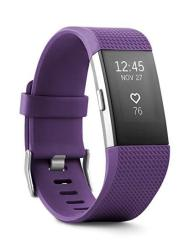 Fitbit Charge 2 Activity Tracker + Heart Rate Small Purple Renewed