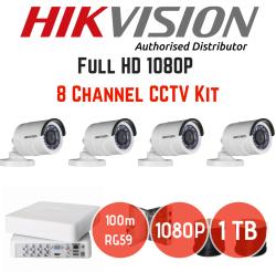 Hikvision 1080P 8 Channel 4 Camera Turbo HD Cctv Kit 4TB Hard Drive | R |  CCTV Accessories | PriceCheck SA