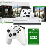Microsoft Xbox One S Bundle 1 Tb Console With Tom Clancy's The Division 2 234-00872 + Xbox Live 3 Month Gold Membership & Xbox