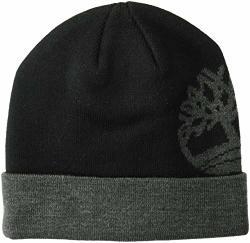 Timberland Men's Logo Watch Cap Beanie Black One Size