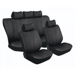 Stingray Galaxy Car Seat Cover Set Black red 11pc